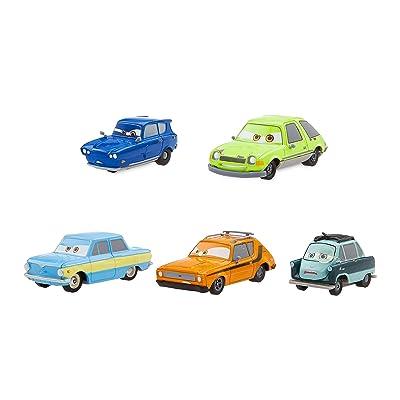 Disney Cars 2 Spies Pull 'n' Race Die Cast Set: Toys & Games