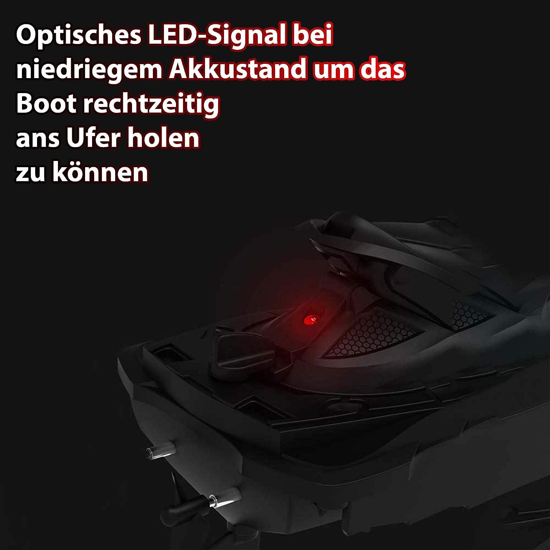 Moto acu/ática de control remoto bater/ía y cable de carga barco modelo de lancha r/ápida de alta velocidad y alcance incluyendo control remoto de 2.4GHz
