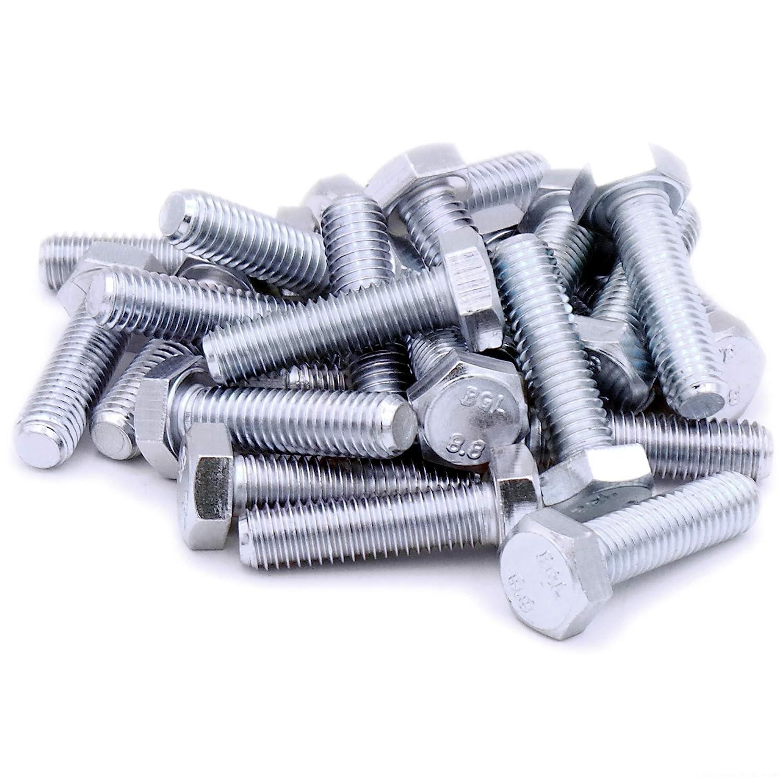 5 St/ück DIN 933 M5 x 50 ISO 4017 PROFI Sechskant Schraube Vollgewinde G/üte 8.8 verzinkt Stahl geh/ärtet DIN933 PROFI 6kt VGW G8.8 VZ SGH