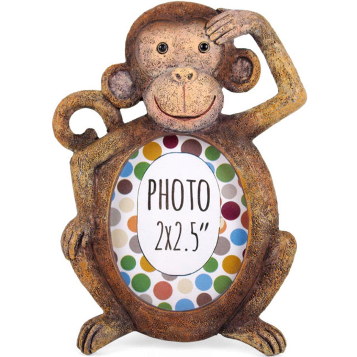 Beautiful Resin Animal Mini Photo Frames Window Living Room Nursery Picture Display Frame. 2 x 2.5 (Monkey) by Ethically Sourced   B01IDARMFE