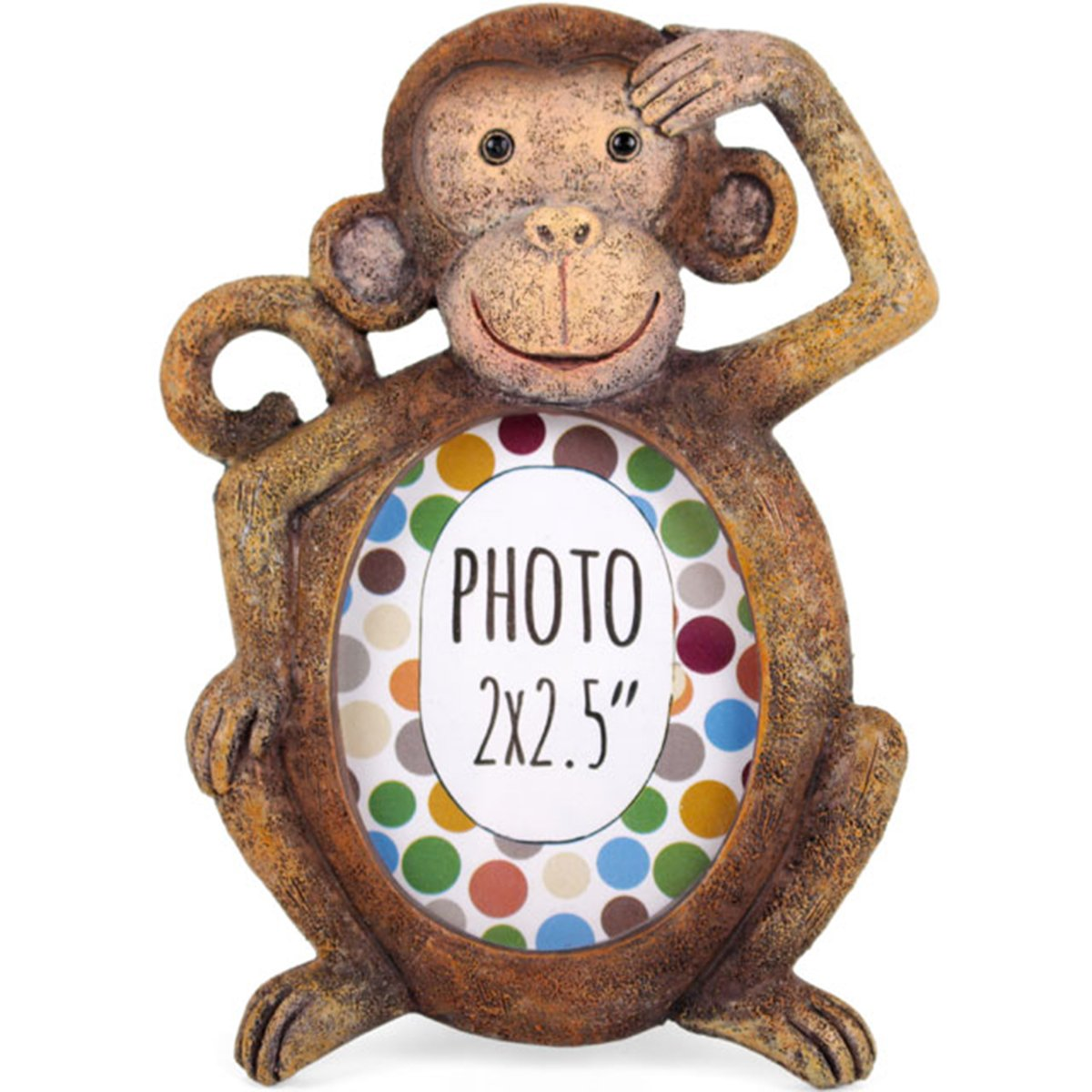 Beautiful Resin Animal Mini Photo Frames Window Living Room Nursery Picture Display Frame. 2 x 2.5'' (Monkey)