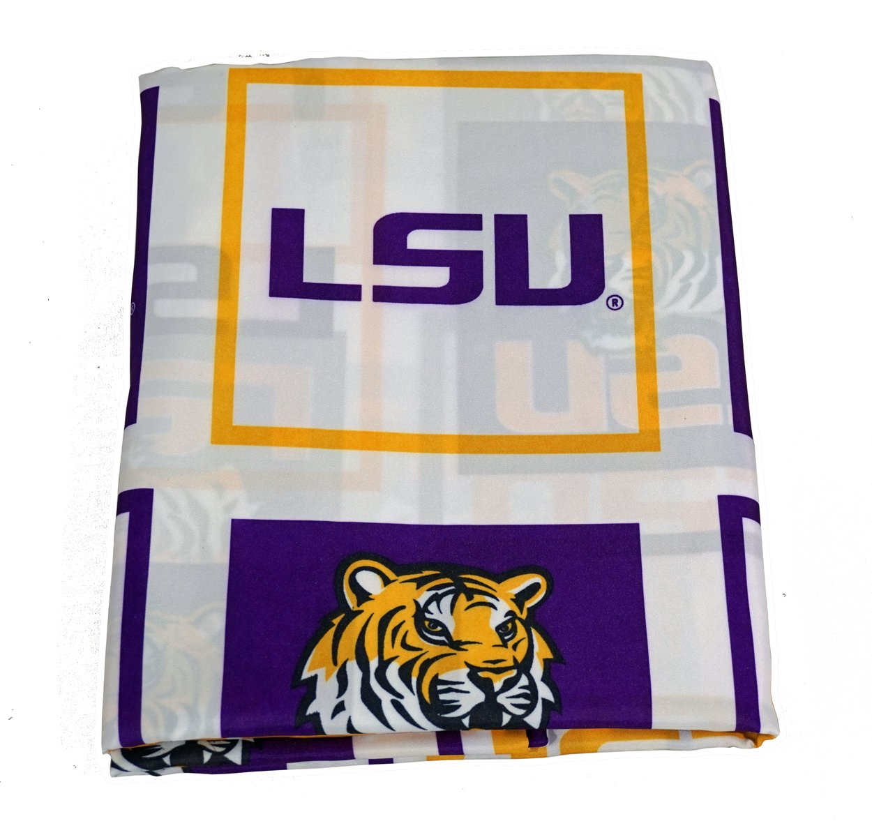 Amazon.com: LSU Louisiana Tigers Fabric Shower Curtain (72x72): Home ...