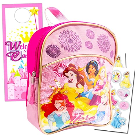 "Disney Princess Mini infantil preescolar 11 ""Mochila Set ~ Cenicienta, Ariel, Rapunzel"