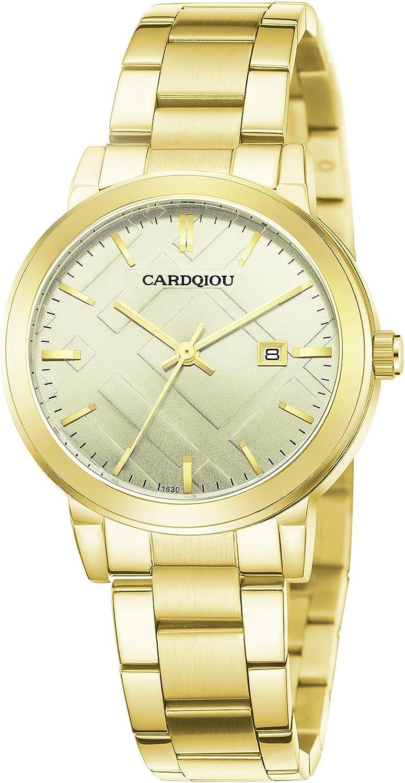 CARDQIOU Women Watch Women Rose Gold Watch Stainless Steel Waterproof Ladies Watch Women s Watch Sale