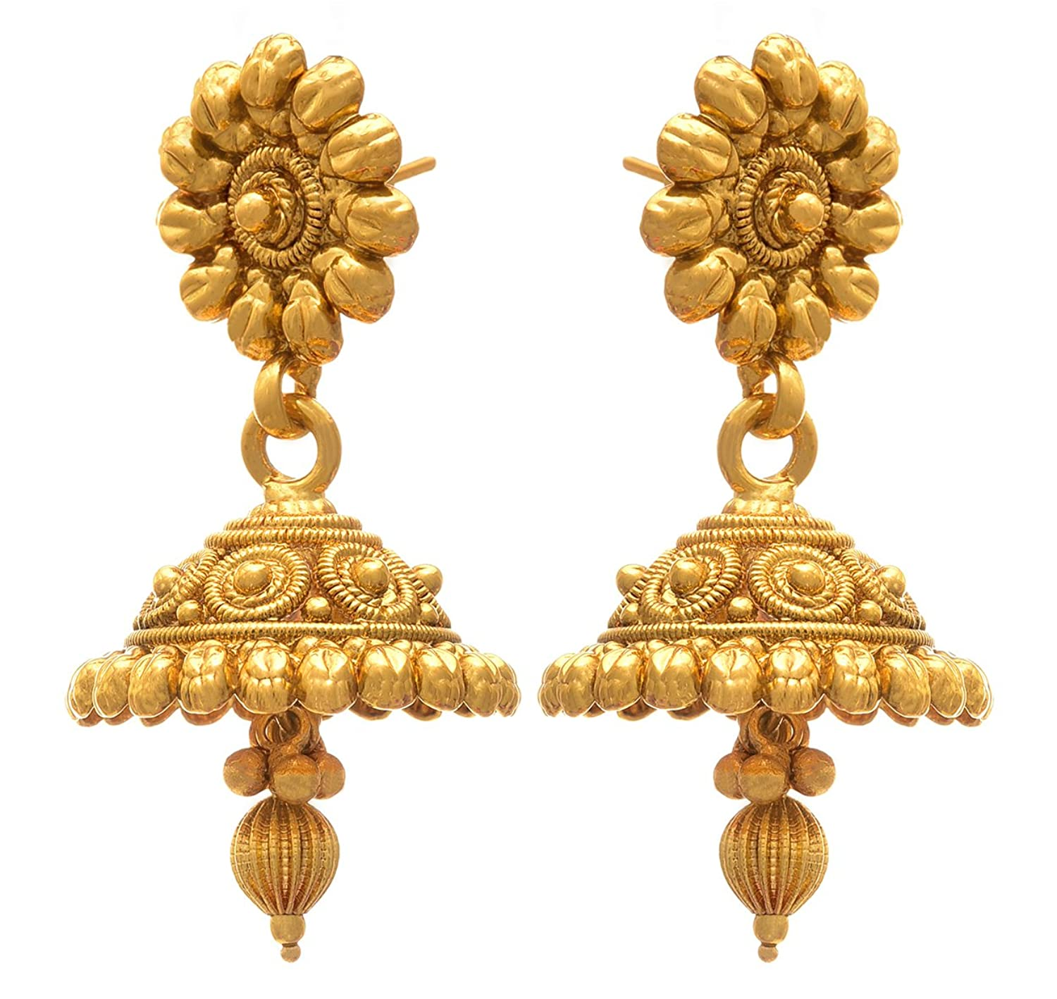 Buy JFL - Jewellery for Less Golden One Gram Gold Plated Necklace ...