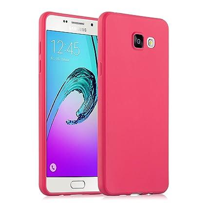 save off f8c8a ddbf0 Galaxy A5 (2016) Case, JAMMYLIZARD Ultra Slim Silicone Jelly Back Cover for  Samsung Galaxy A5 (6) 2016, Red
