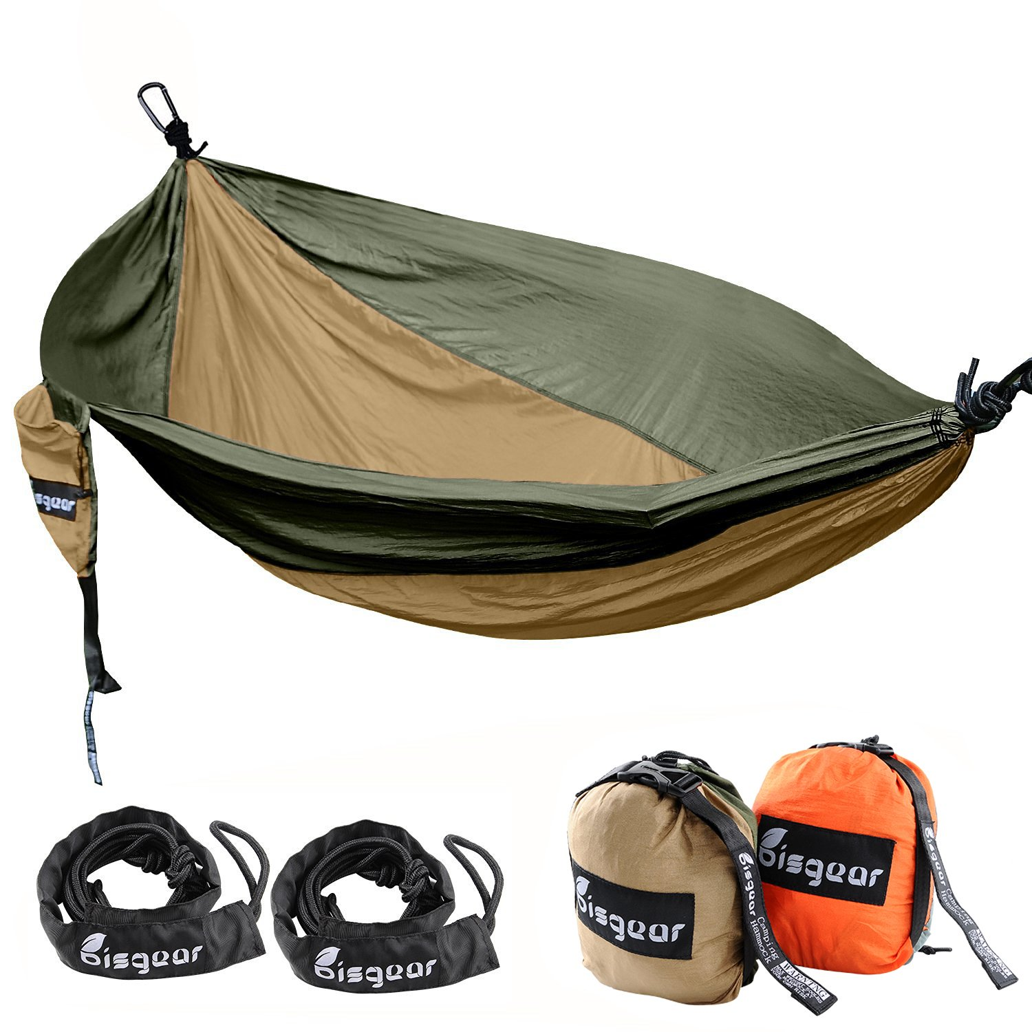 Double Single Camping Hammock Lightweight Image 1