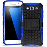 Samsung Galaxy S3 Outdoor Hülle Case in Blau Extra Schutz, Robuste Samsung Galaxy S3 Schutzhülle Handyhülle Cover Silikonhülle Rückschale