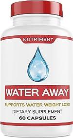 Water Away Herbal Natural Diuretic Weight Loss Blend with Juniper Berry,