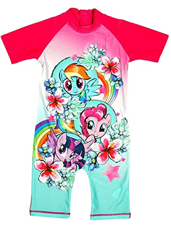 8eb9345f44299 Official Licensed My Little Pony MLP Sunsafe Swimsuit / Swimming Costume (2  / 3 Years): Amazon.co.uk: Clothing
