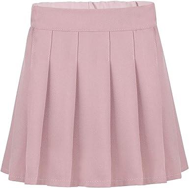 inhzoy Falda de Escolar para Niña Uniforme Falda Plisada Cintura ...