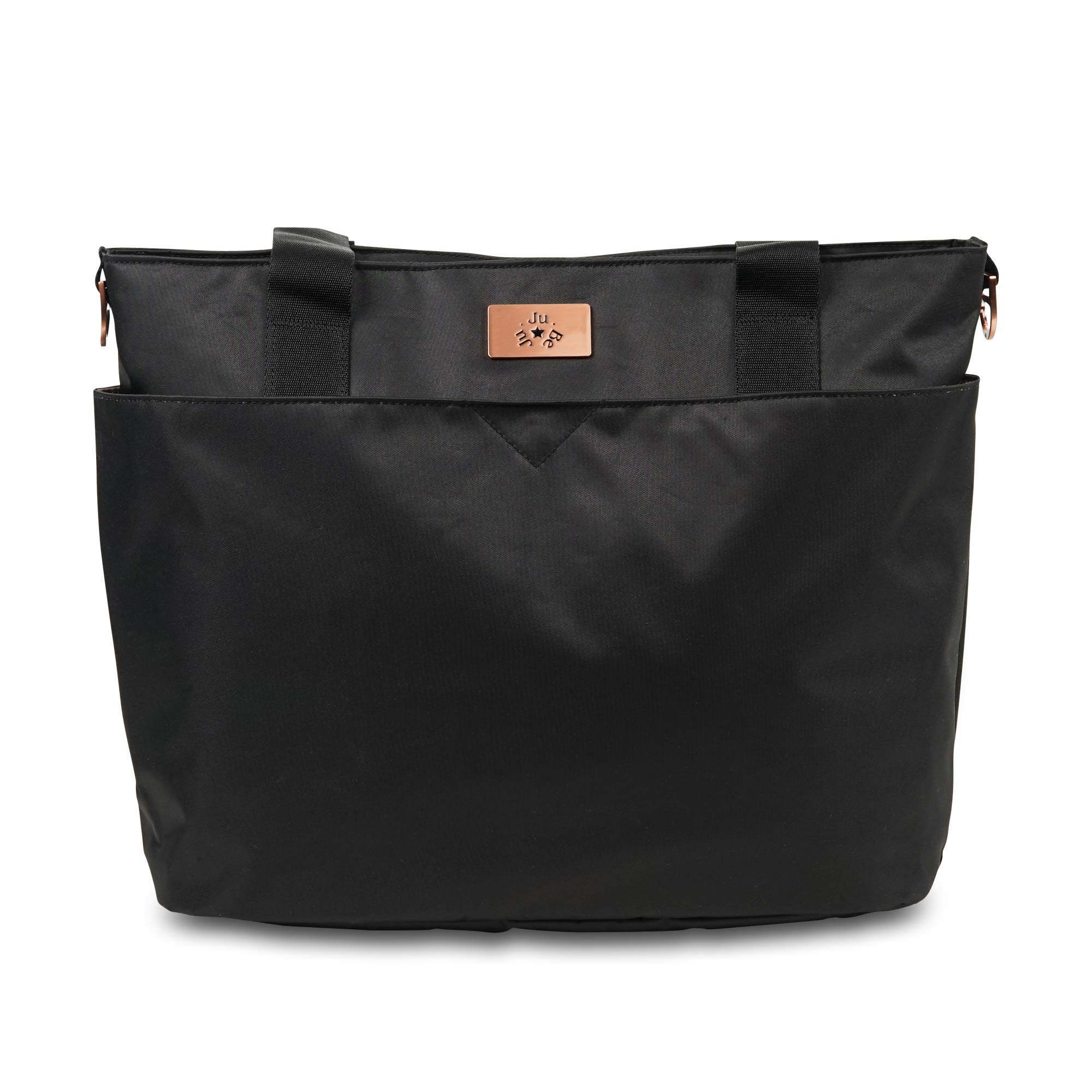JuJuBe Encore Travel Diaper Tote Bag | Classic Collection | Lightweight, Everyday with Diaper Changing Pad | Black Rose, One Size by JuJuBe
