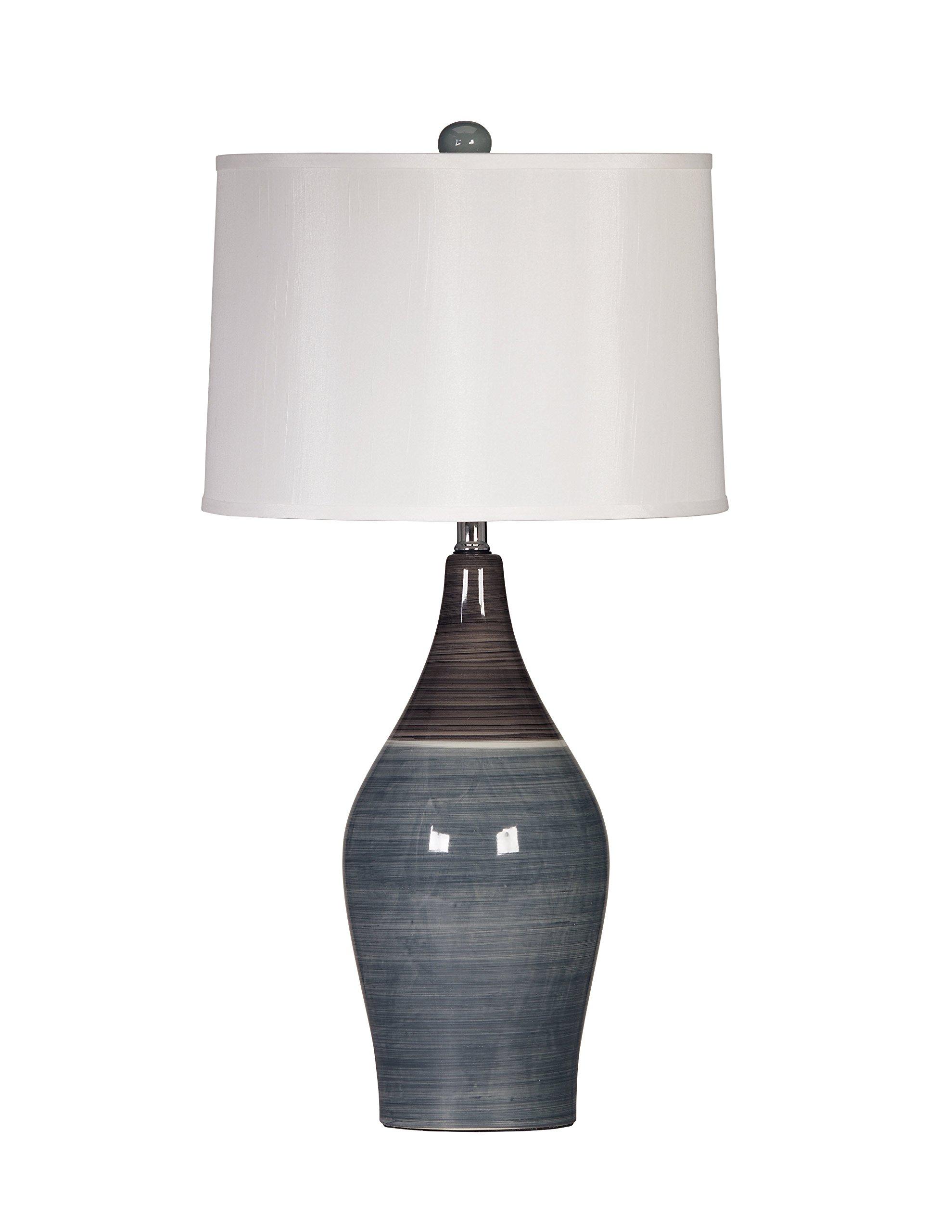 Ashley Furniture Signature Design - Niobe Ceramic Table Lamp - Set of 2 - Multicolored Gray by Signature Design by Ashley