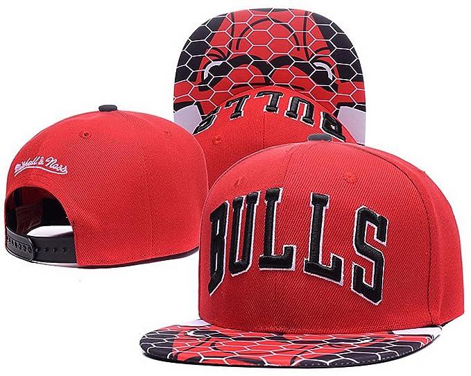 Béisbol Chicago Bulls Gorra rojo- Sr./Sra personalizado logotipo Snapback sombreros casquillo (