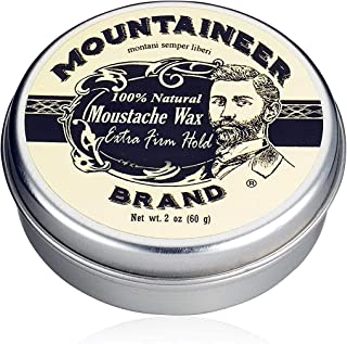 product image for Mustache Wax by Mountaineer Brand (2oz) | All-Natural Beeswax and Plant-Based Oils for Moustache | No Petroleum Chemicals (Extra Firm Unscented)