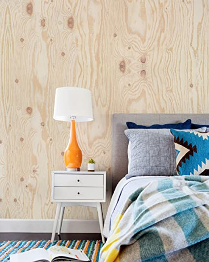 Plywood Mural Wall Art Wallpaper - Peel and Stick - by Simple Shapes