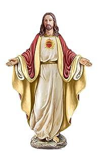 "Roman Inc. Joseph Studio - Renaissance Collection 12.5""H Sacred Heart of Jesus Holy Figurine Religious Decor"