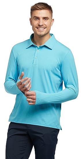 105343f3027 Solbari UPF 50+ Men s Sun Protection Long Sleeve Polo Fitness Shirt - UV  Protection