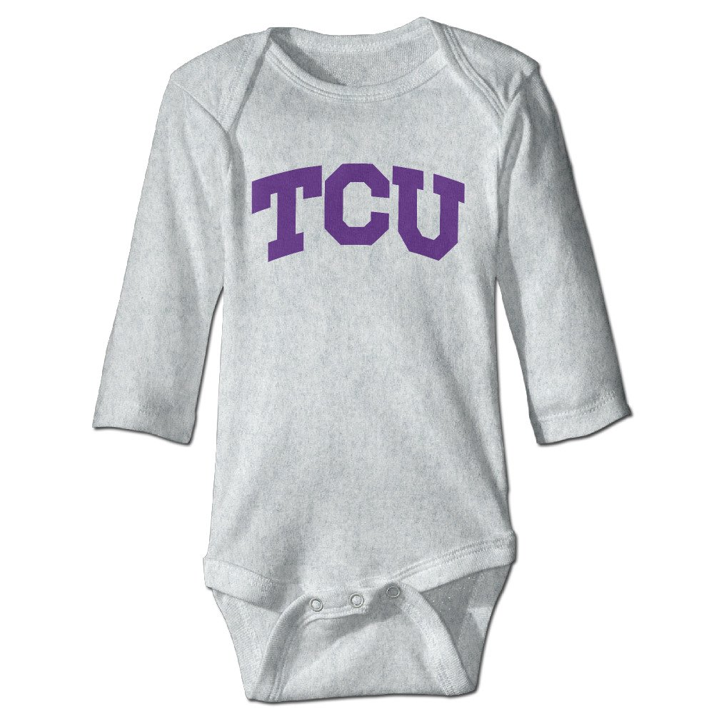 HYRONE Texas Christian University TCU Baby Bodysuit Long Sleeve Romper Suits Ash