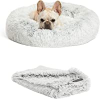 """Best Friends by Sheri Bundle Savings - The Original Calming Shag Donut Cuddler Dog Bed in Small 23"""""""" x 23"""""""" and Pet…"""