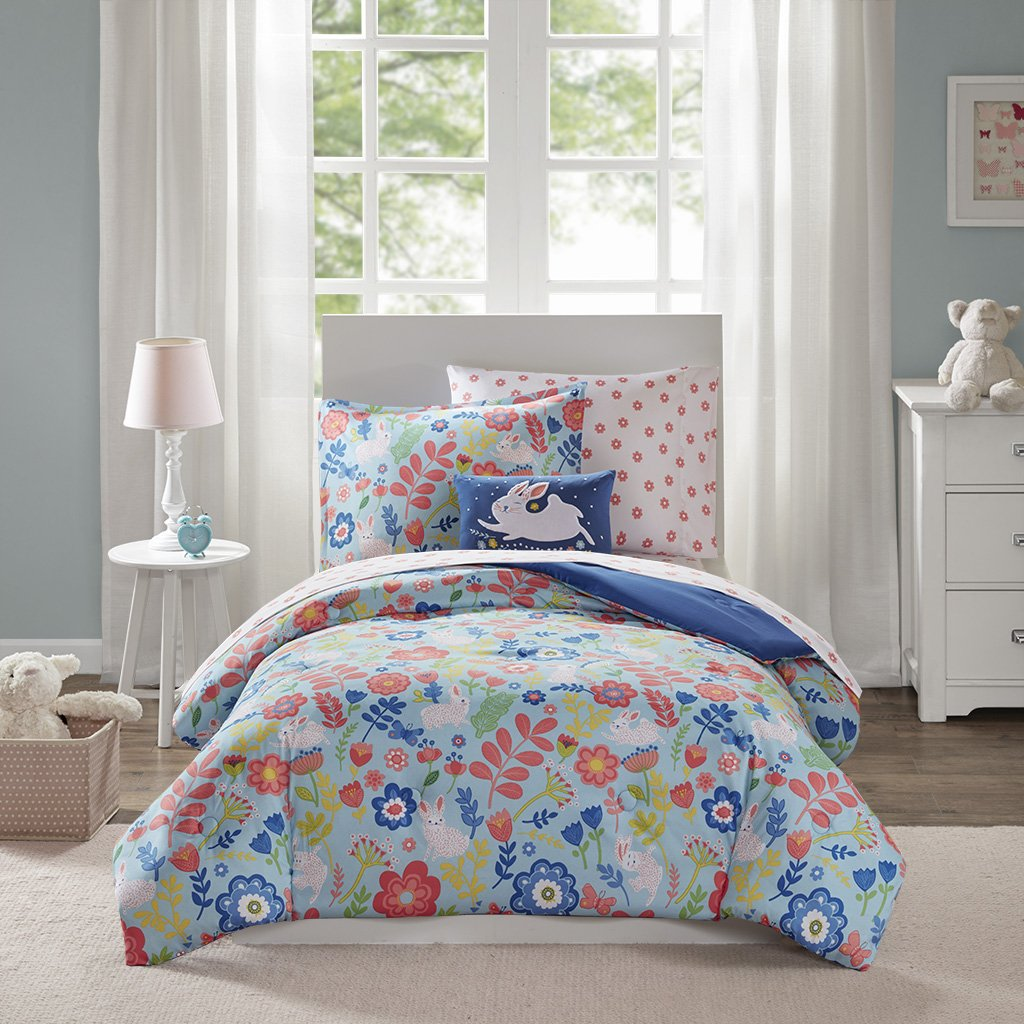 bluee Full Mi Zone Kids Flopsy Complete Bed and Sheet Set