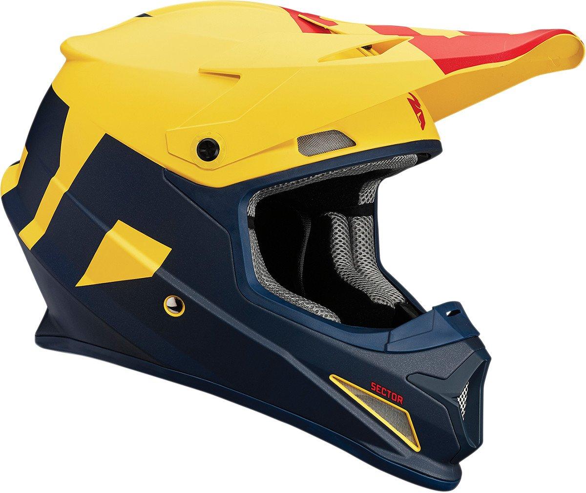 Thor/ /Casque de moto cross /à visi/ère Jaune//rouge//bleu mate L Jaune//rouge//bleu