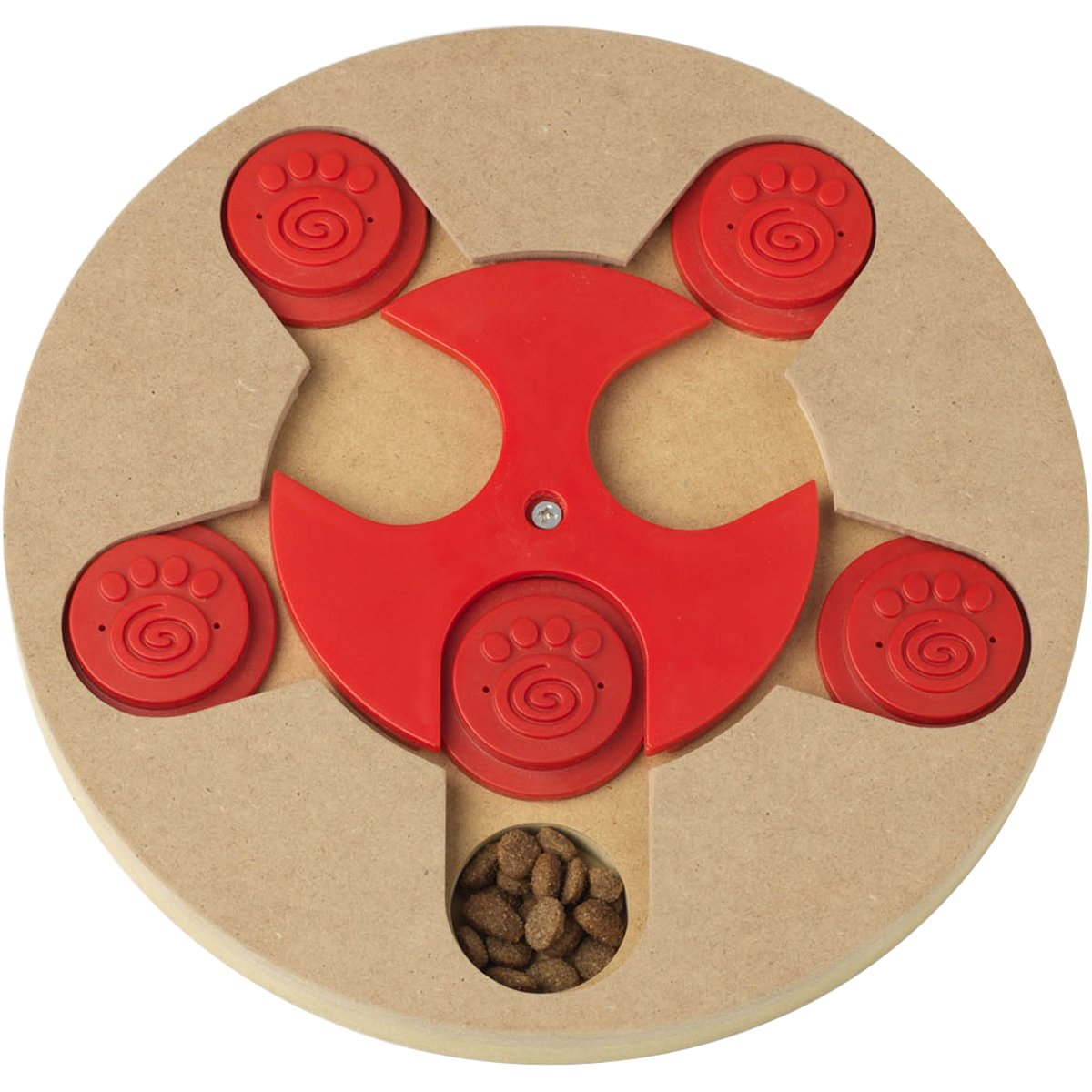 PetRageous Thinkrageous Interactive Advanced Level Puzzle Piece Pet Toy, 9.84'', Red