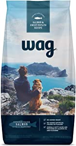 Amazon Brand – Wag Dry Dog Food Salmon & Sweet Potato, (No Added Grains) 24 lb Bag