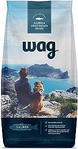 Amazon Brand – Wag Dry Dog Food Salmon & Sweet Potato, (No Added Grains) 24 lb Bag