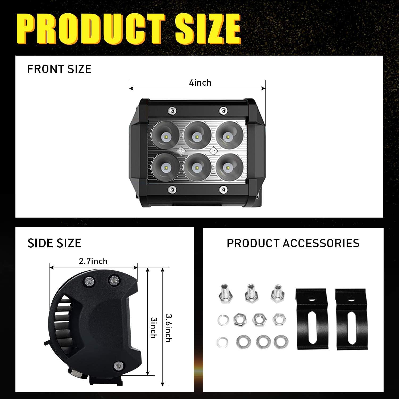 To-One Universal Pods Kits de faisceaux de c/âbles avec relais de commutation pour projecteur de travail /à LED Faisceau de c/âbles pour barrettes lumineuses /à LED One