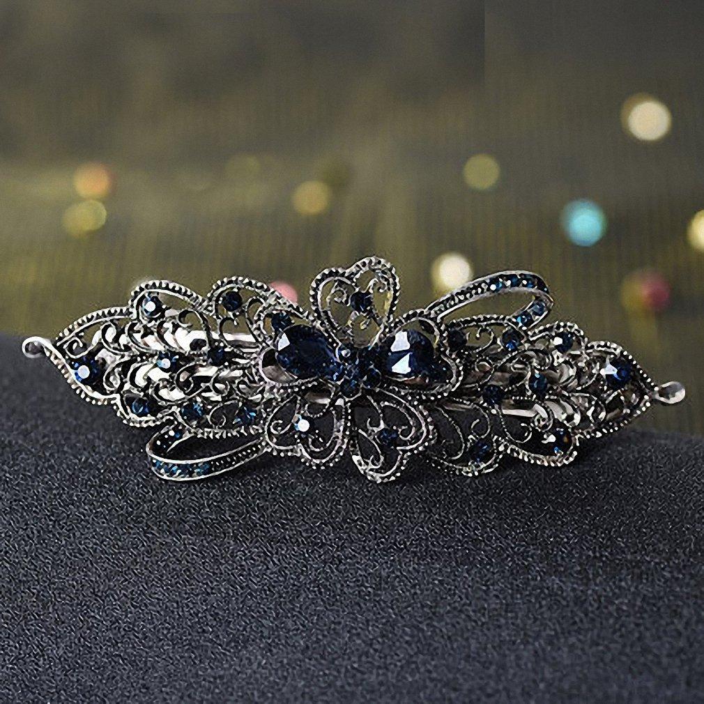 Fashion Women/'s Crystal Flower Rhinestone Hair Pins Hairpin Hair Clip Headpiece