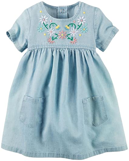 19ff54c7 Amazon.com: Carter's Baby Girl Collection Chambray Dress: Clothing