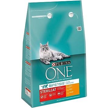 One Gatos Esterilizados Rico en Pollo y Trigo 3 Kg - 3000 gr