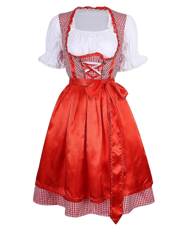 yesfashion dirndl trachtenkleid kleid bluse sch rze 3 teilig rot kaufen. Black Bedroom Furniture Sets. Home Design Ideas