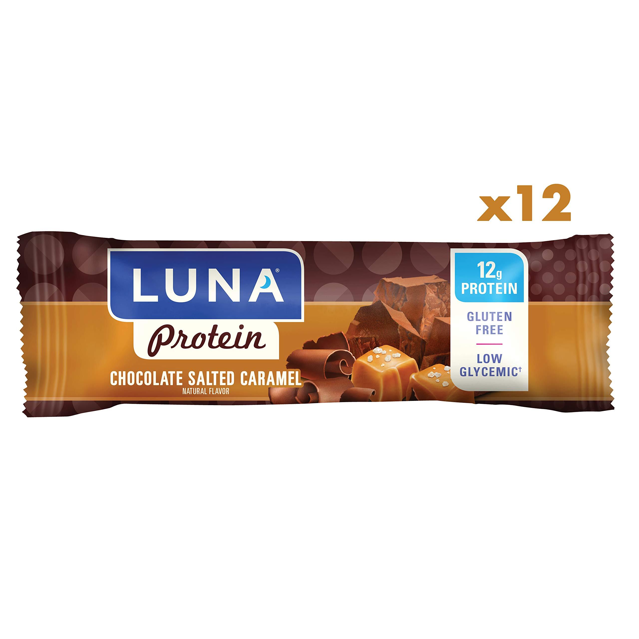 2ad776b1d0c LUNA PROTEIN - Gluten Free Protein Bar - Chocolate Salted Caramel Flavor -  (1.59 Ounce