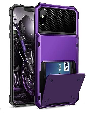 Amazon.com: ELOVEN Funda para iPhone X/XS, [ranura para ...