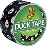 Duck 283931 Printed Duct Tape Single Roll, 1.88 Inches x 10 Yards, Sugar My Skull