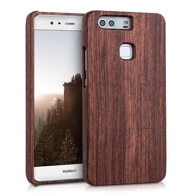 1 opinioni per kwmobile Huawei P9 Plus Cover legno- Custodia in legno di rosa naturale- Case