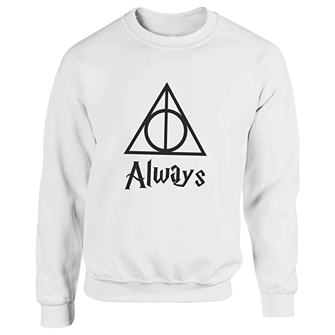 Always Triangle Harry Potter Artwork Blanca Sudadera con Capucha Unisex Small: Amazon.es: Ropa y accesorios
