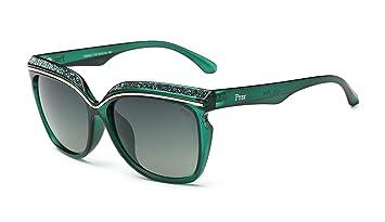 2c7f087b9c91c Prsr Brand Glasses Fashion HD Polarized Sunglasses Diamond Sunglasses(Green)