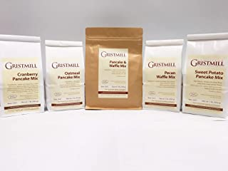 product image for Homestead Gristmill — Non-GMO, Chemical-Free, All-Natural Pancake & Waffle Mix (Variety 5-Pack)
