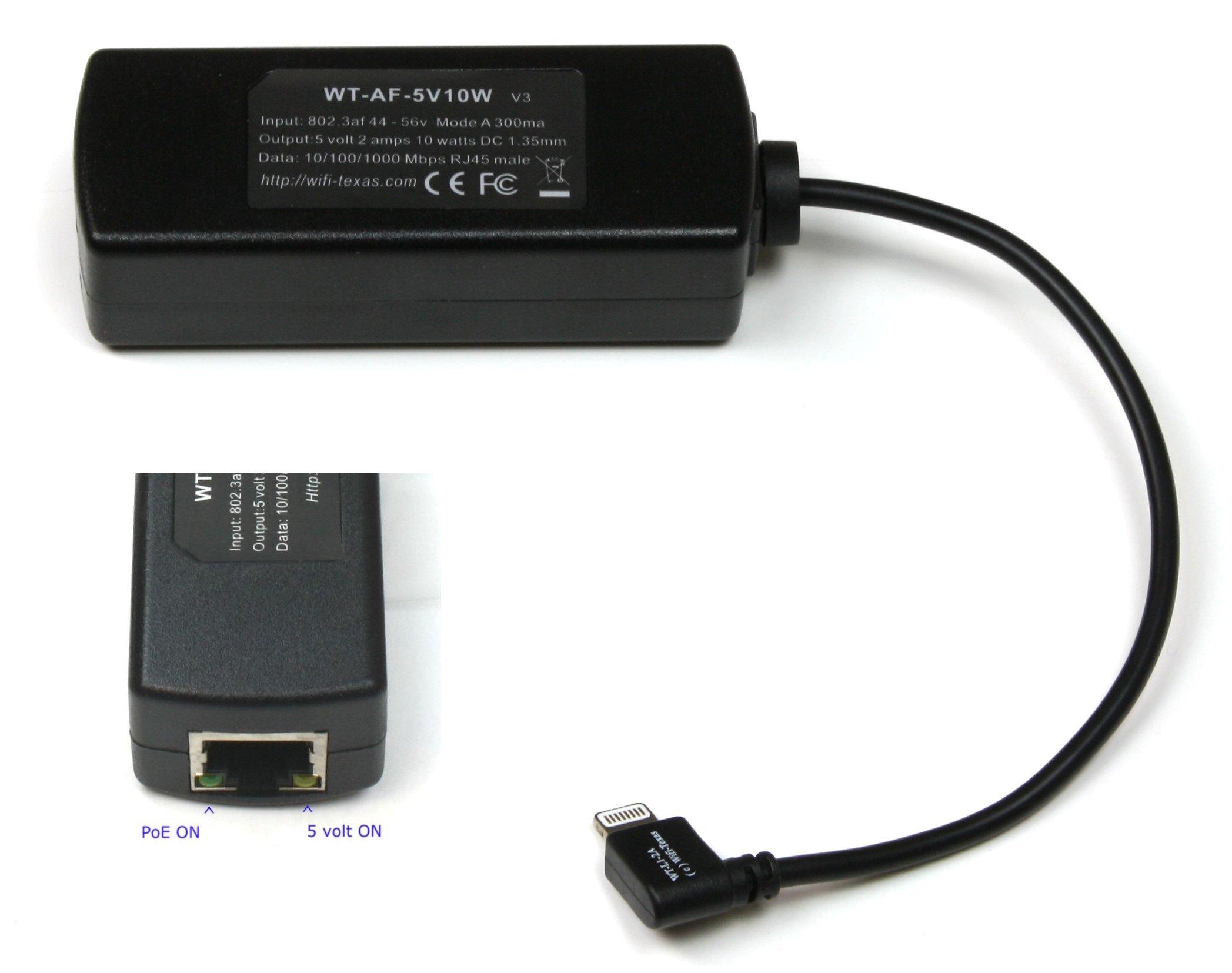 WT-AF-5v10w 802.3af PoE Splitter with 5 Volts Output Power Over Ethernet for or