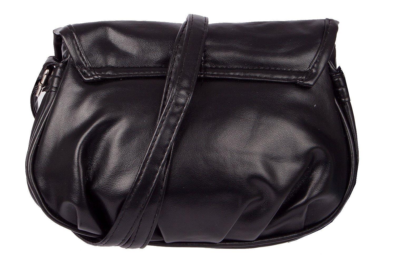 New Bags - Bolso al hombro de Piel para mujer negro negro: Amazon.es: Ropa y accesorios