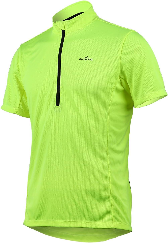 4ucycling - Maillot de ciclismo de manga corta de secado rápido - Camisetas básicas transpirables para deportes de talla EE. UU.: Amazon.es: Ropa y accesorios