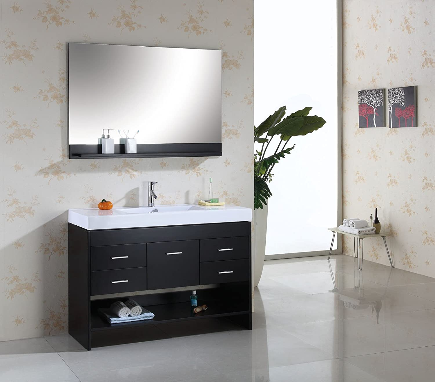 Virtu USA MS575CES Gloria 48Inch Single Sink Bathroom Vanity