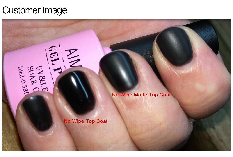 AIMEILI Soak Off UV LED Gel Nail Polish - Matte Top Coat 10ml ...