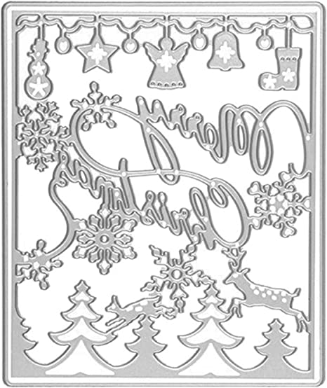 Christmas Bell Metal Cutting Dies Stencil Scrapbook Paper Card Embossing Die-cut