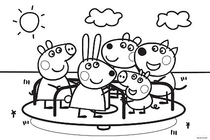 Jumbo Puzzle Peppa Pig and Colour (Medium): Peppa Pig: Amazon.es: Juguetes y juegos