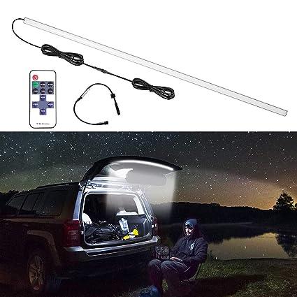 RangerRider LED Tailgate Rear Glass Lift Gate Hatch Dome Light Bar Car Trunk Organizer Lighting for Jeep Wrangler Off Road SUV