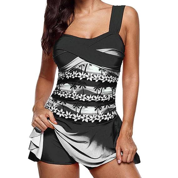 5cb093da472bd Gocheaper Rainbow Lady Tankini Sexy Swimdress one-Piece Swimsuit Beachwear  Padded Swimwear Plus Size Biki